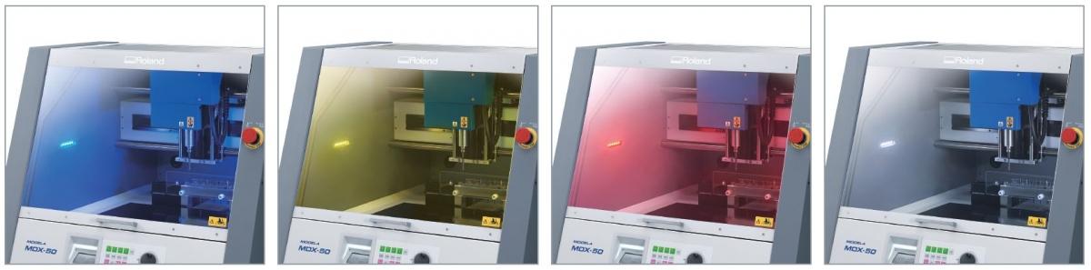 цветная индикация рабочего состояния станка MDX-50