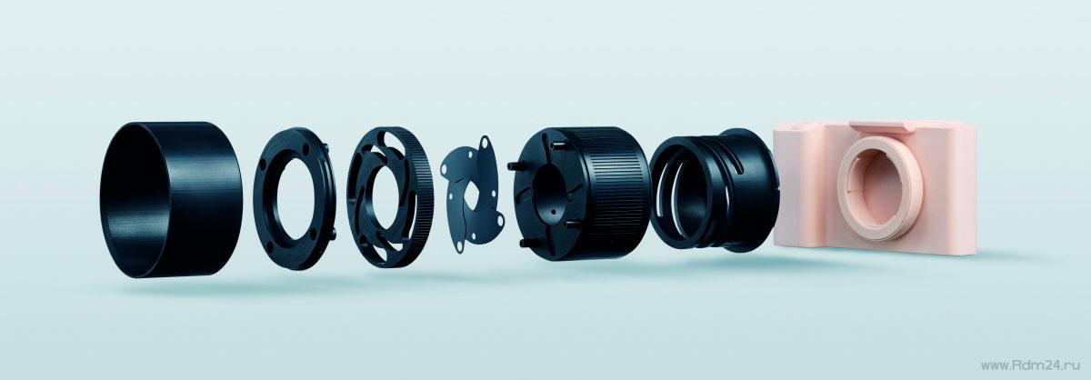 Детали модели фотоаппарата отфрезерованные на MDX-50